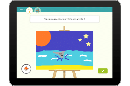 Exercice sur tablette pour dessiner